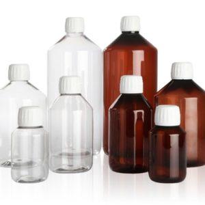 Botellas PET (Ambar o Transparente)